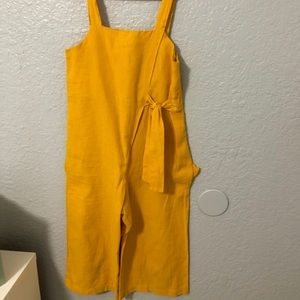 ZARA girls romper in yellow 💛